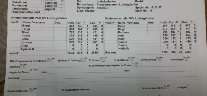 Freundschaftsspiel FKV-Auswahlmannschaften gegen Post SV Ludwigshafen